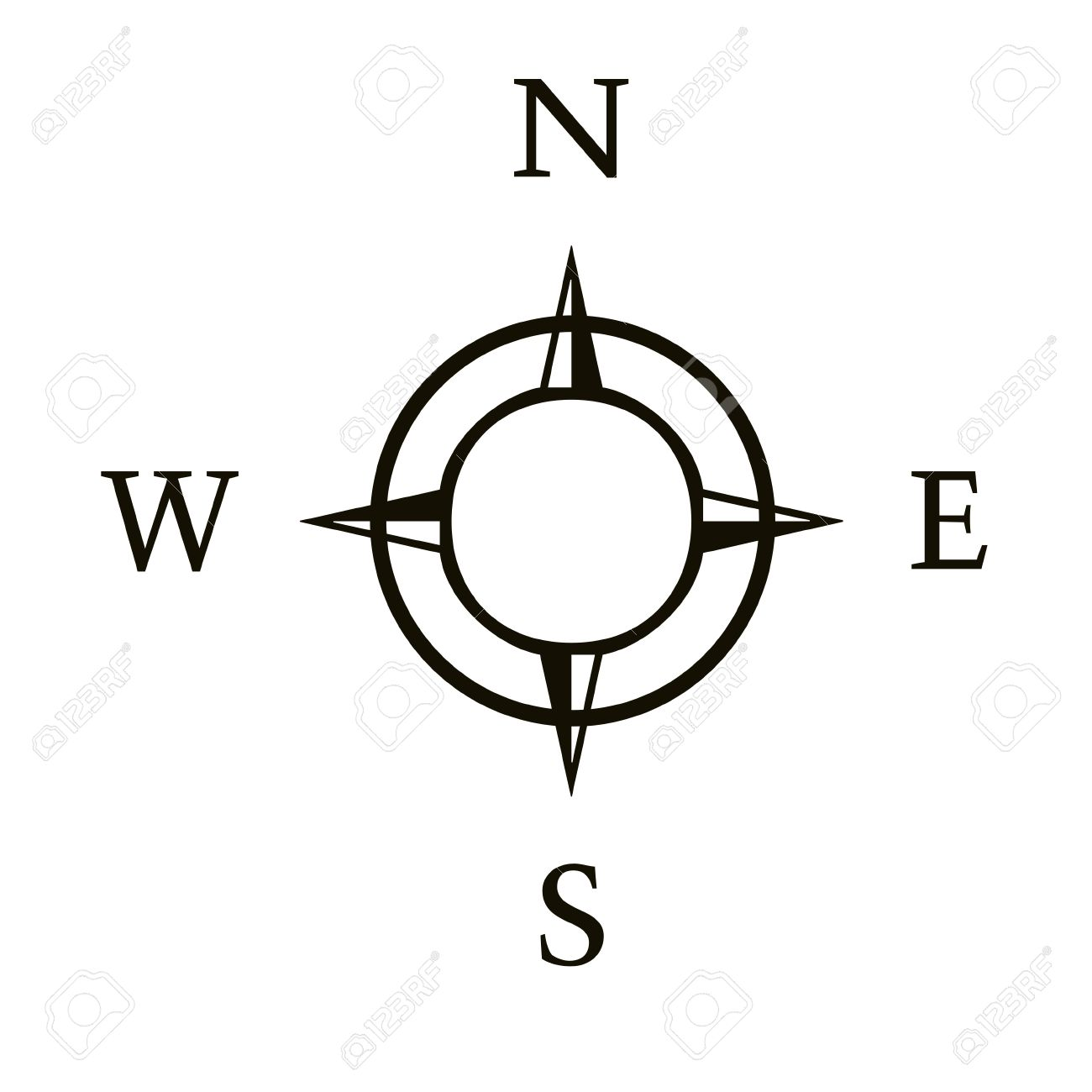 1300x1300 Compass Clipart North South East West