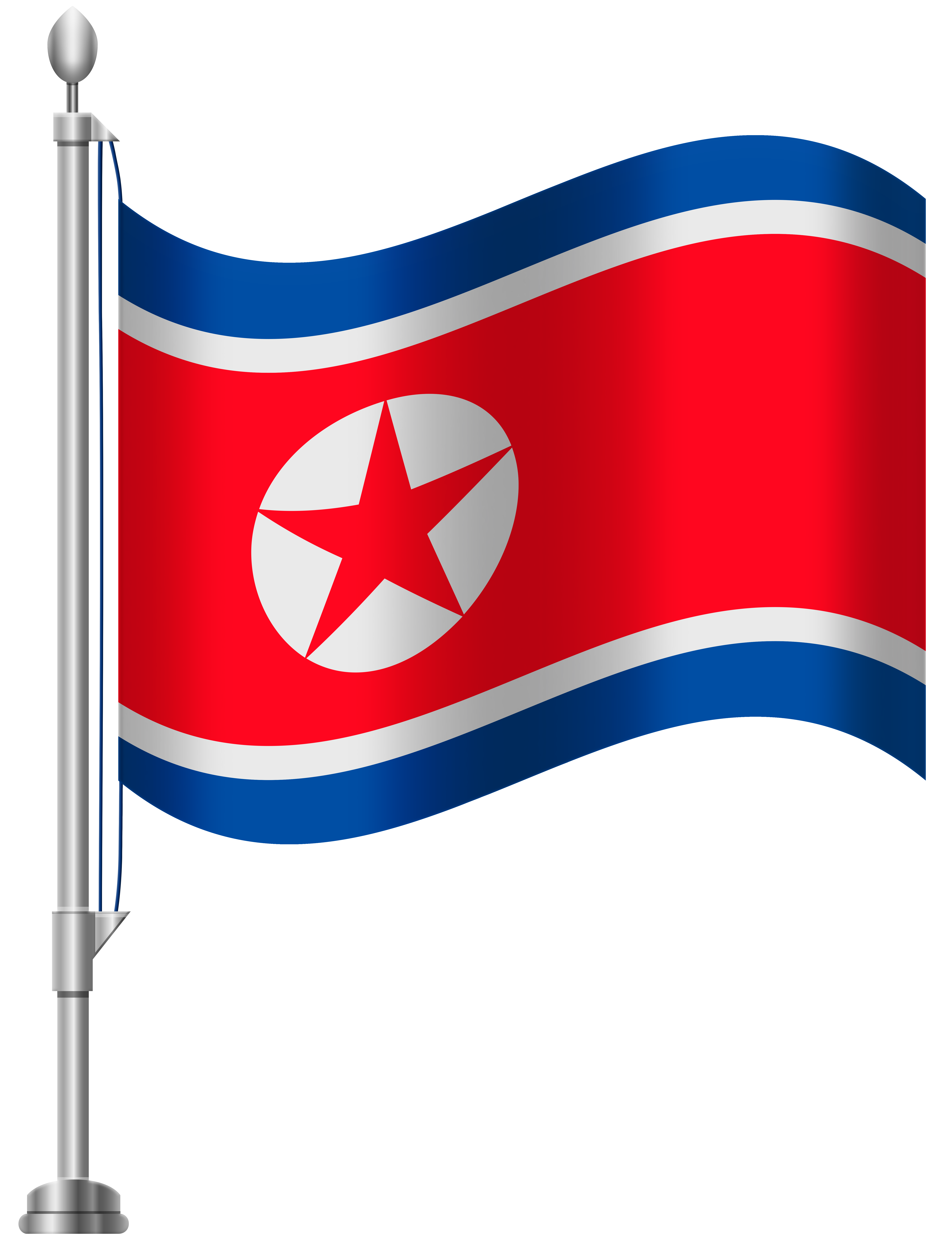 6141x8000 North Korea Flag Png Clip Art