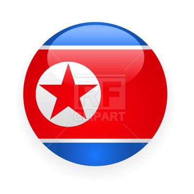 400x400 North Korea Button Flag Icon Royalty Free Vector Clip Art Image