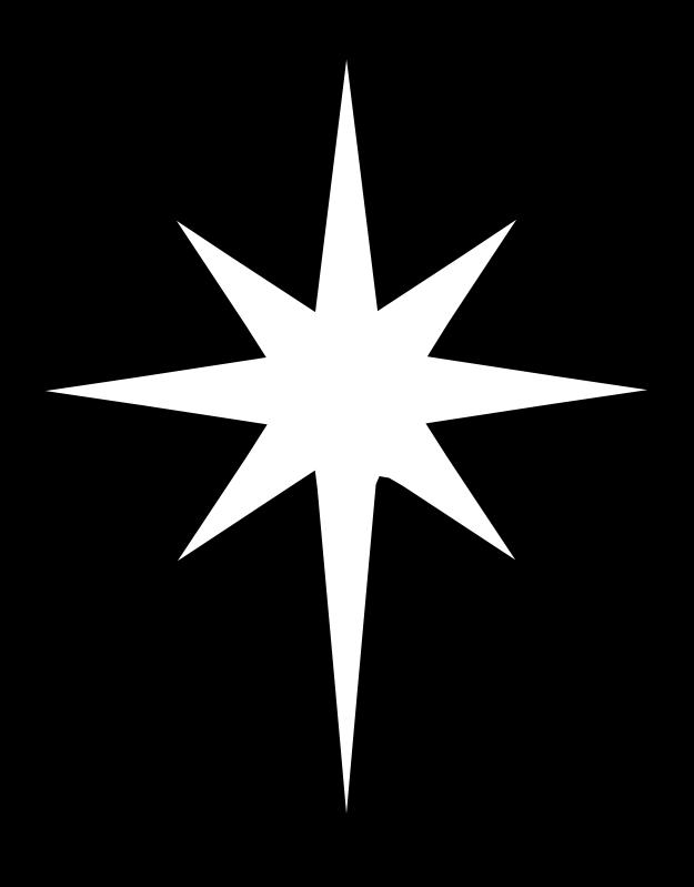 625x799 North Star Clip Art