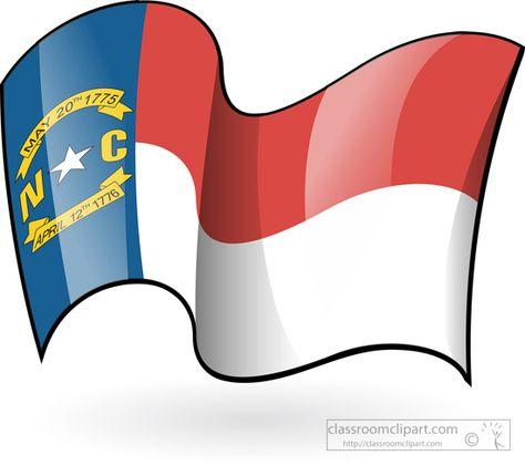 474x420 State Flags North Carolina Flag Waving Classroom Clipart Clip