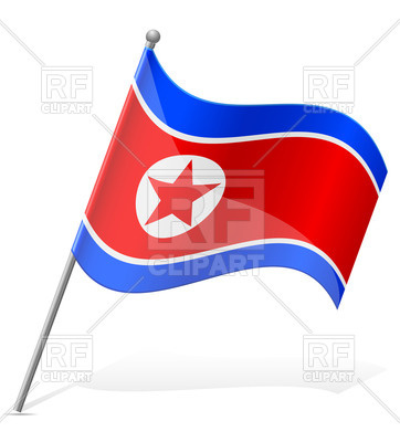 362x400 Wavy Flag Of North Korea Royalty Free Vector Clip Art Image