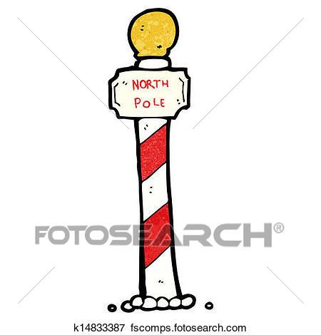450x470 Clip Art Of Striped North Pole Cartoon K14833387