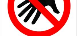 272x125 Do Not Touch Sign Clip Art