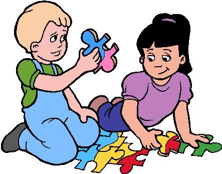 443x347 kids sharing toys clipart