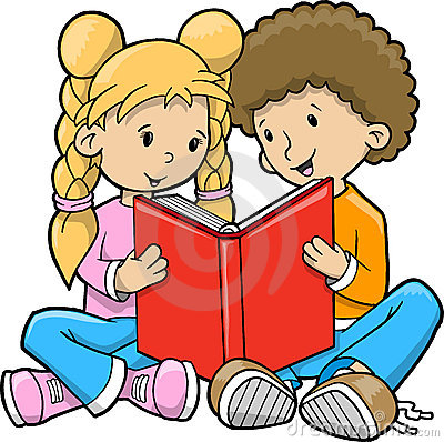 400x398 Sharing Books Clipart