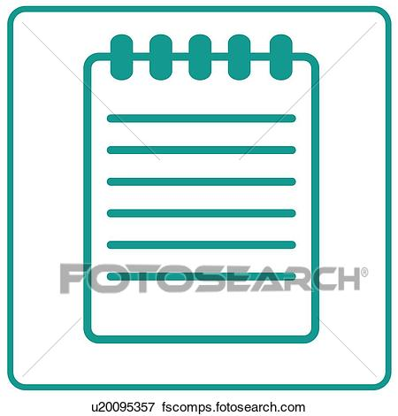 450x470 Clip Art Of Document, Icons, Documents, Notebooks, Notebook, Memo