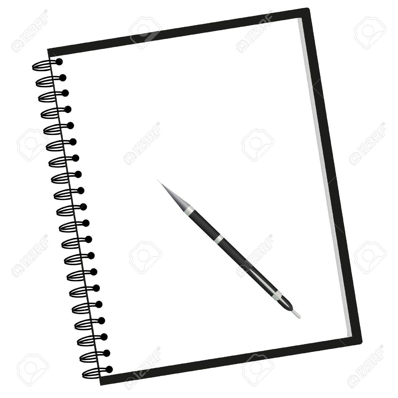 1300x1300 Notebook And Pen Royalty Free Cliparts, Vectors, And Stock