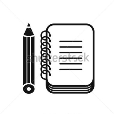 380x380 Notebook Pencil Clipart