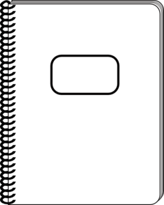 240x300 Notebook Clipart Black And White