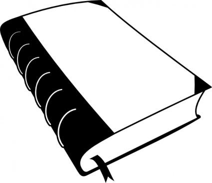 425x366 Black Amp White Clipart Book