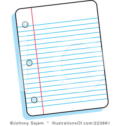 400x420 Paper Clipart Lined Paper