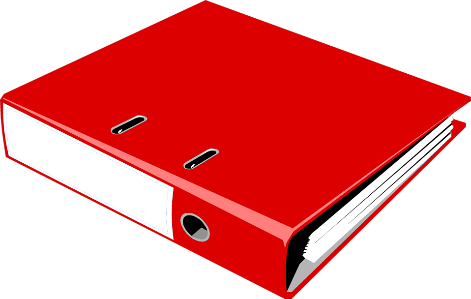 958x608 Binder Free Stock Photo Illustration Of A Red Notebook Binder
