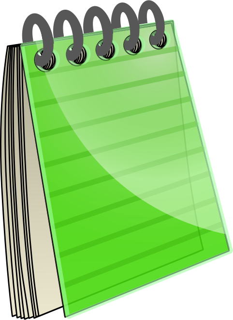 482x661 Notebook Clip Art