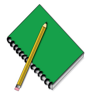 300x297 Notebook Pencil Clipart (28+)