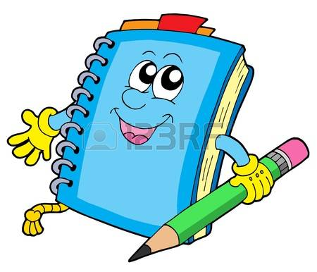 450x386 Notebook clipart cute