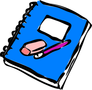 299x291 Pencil Writing In Notebook Clipart Clipart Panda