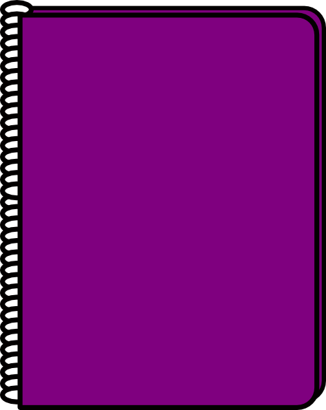 474x596 Purple Notebook Clip Art