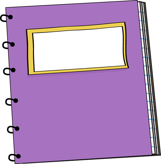 540x550 Purple clipart notebook