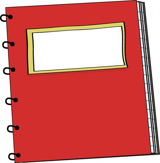 540x550 cute spiral notebooks clipart design