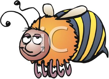 350x255 Image Of A Cute Cartoon Bumble Bee Flying In A Vector Clip Art