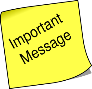 297x288 Note Important Message Clip Art
