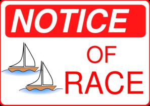 297x210 Notice Of Race Clip Art