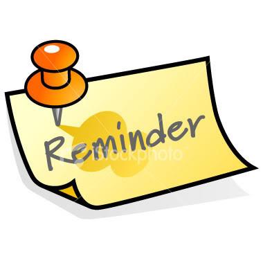 380x380 Notice Clipart Meeting Reminder