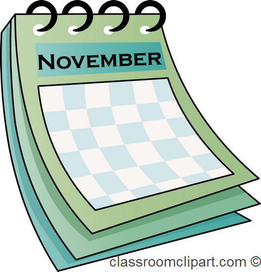 528x550 Calendar Clipart November