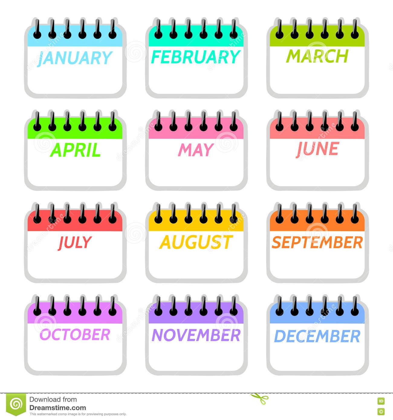 1300x1390 December Simple Calendar Clipart