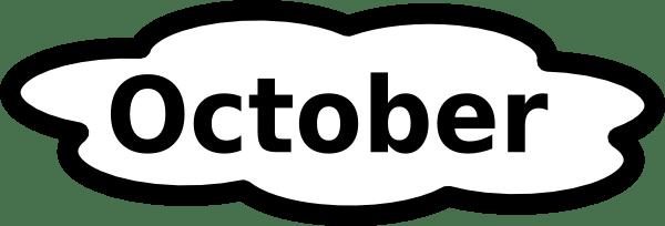 600x204 November Calendar Clip Art Black And White