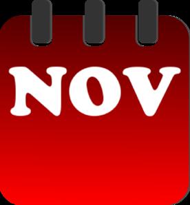 276x298 November Calendar Clip Art