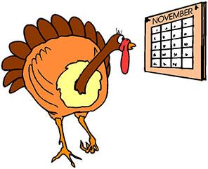 296x241 November Calendar Clipart Turkey