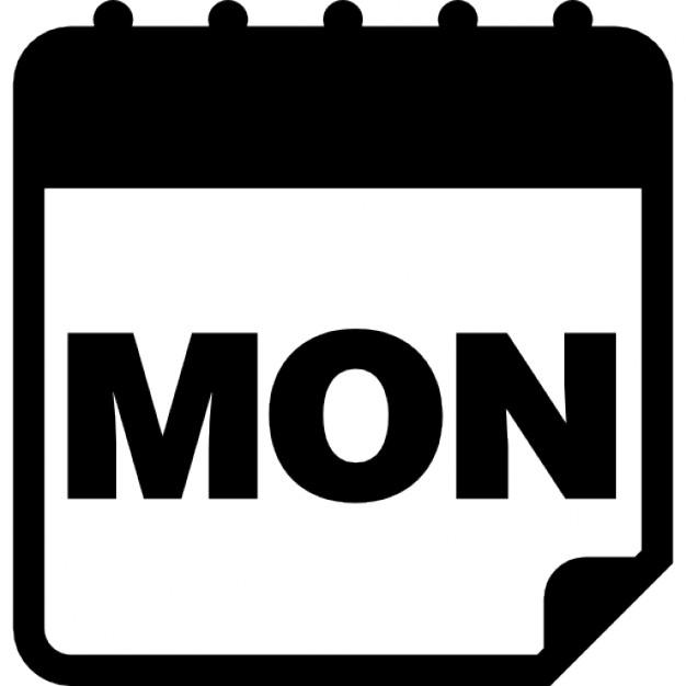 626x626 Monday Calendar
