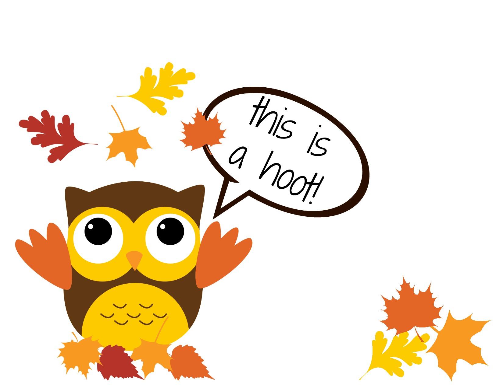 1650x1275 November Owl Clipart