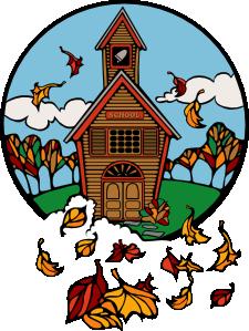 225x299 School In Fall Clip Art
