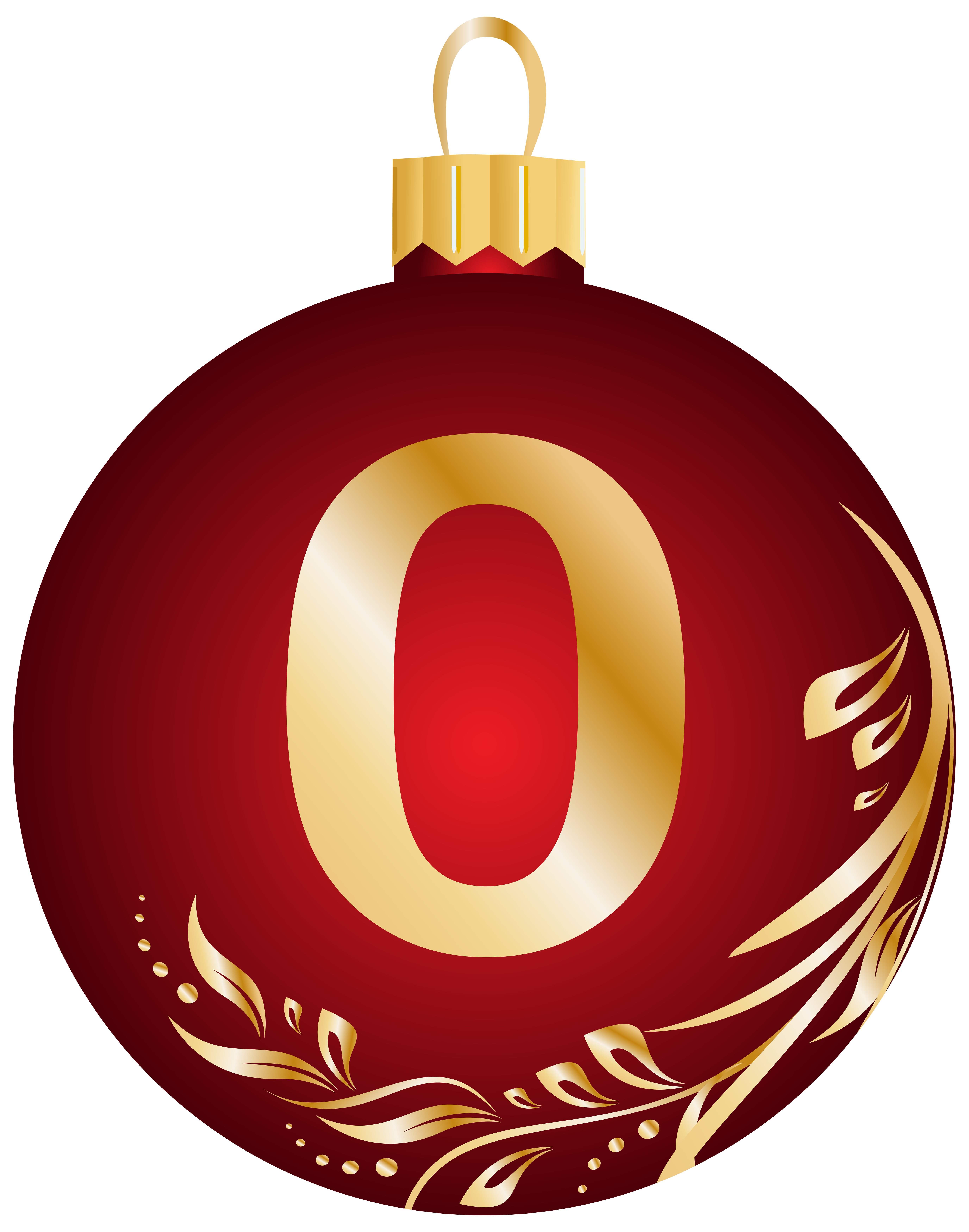 5503x7000 Christmas Ball Number Zero Transparent Png Clip Art Image