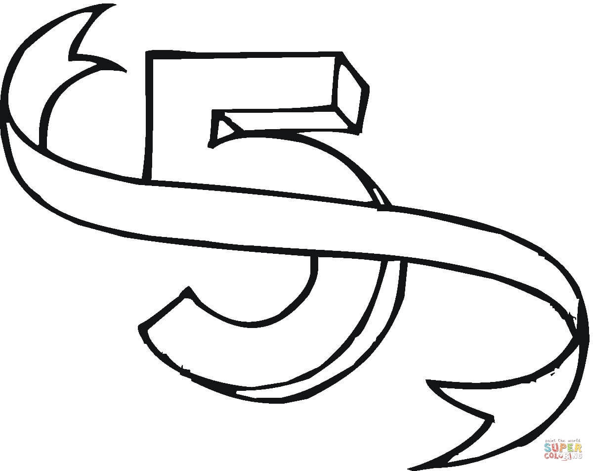 Number 0 Coloring Page Free download