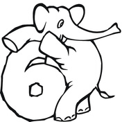 176x176 Numbers 0 9 With Elephants Coloring Pages Free Coloring Pages