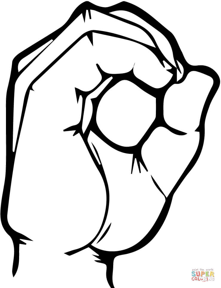 740x964 Asl Number 0 Coloring Page Free Printable Coloring Pages