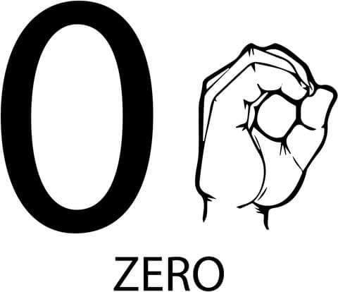 480x414 Asl Number Zero Coloring Page Free Printable Coloring Pages