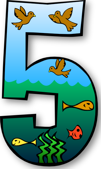 354x594 Day Number 1 Clipart