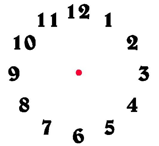 532x489 Clock Clipart Number