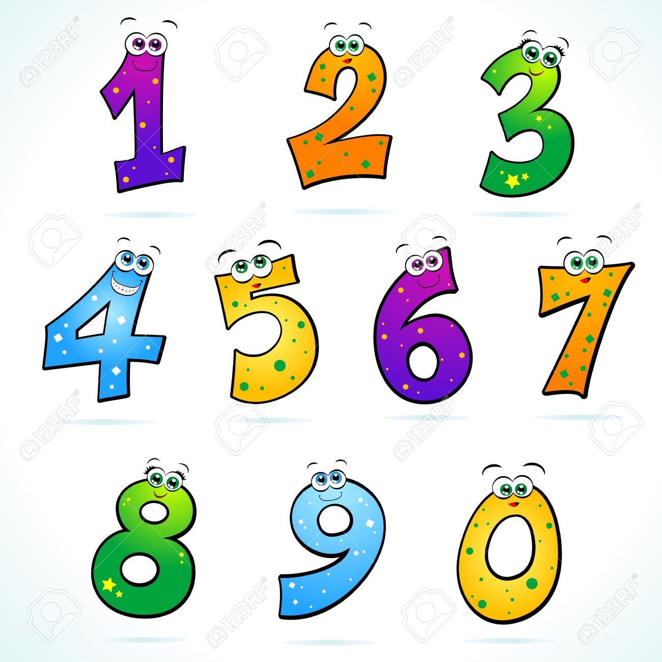 1300x1300 Numbers Clipart