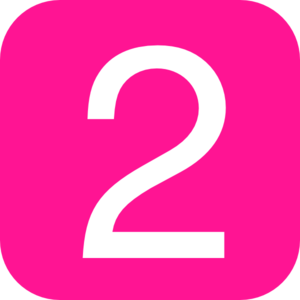 300x300 Pink, Rounded, Square With Number 2 Clip Art