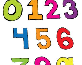 340x270 Basic Numbers Clipart Set Clipart Panda