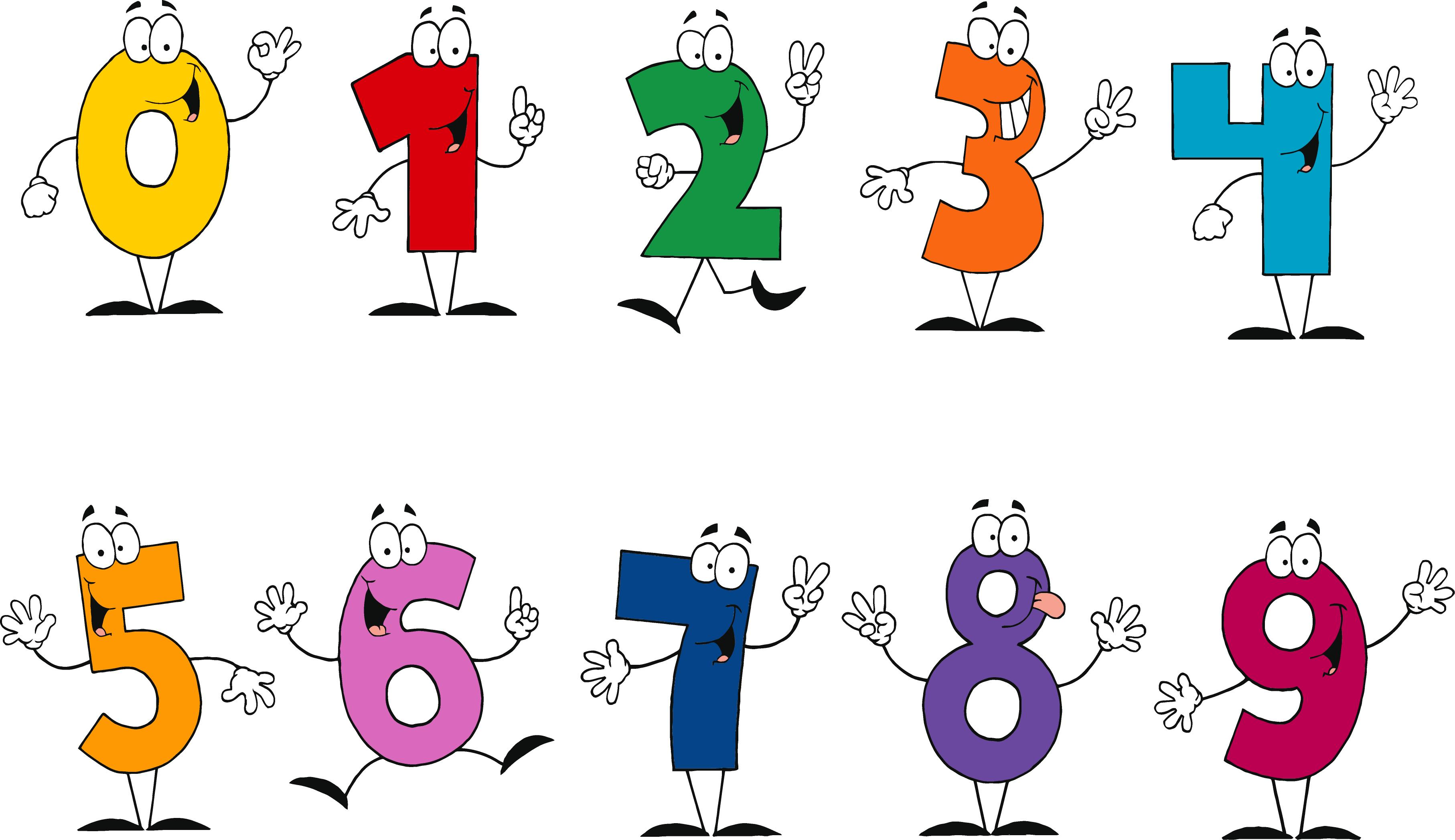 3628x2095 Number Clipart Funny Cartoon