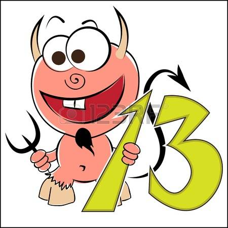 450x450 The Number 13 Clipart