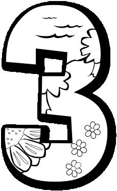 229x372 Three Clipart Black And White