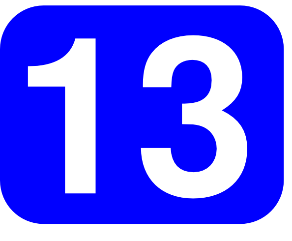 594x490 Blue Rounded Rectangle With Number 13 Clip Art